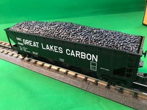 "MTH 30-75626 - 4-Bay Hopper Car ""Great Lakes Carbon"""