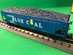 "MTH 30-75628 - 4-Bay Hopper Car ""Anthracite Blue Coal"""