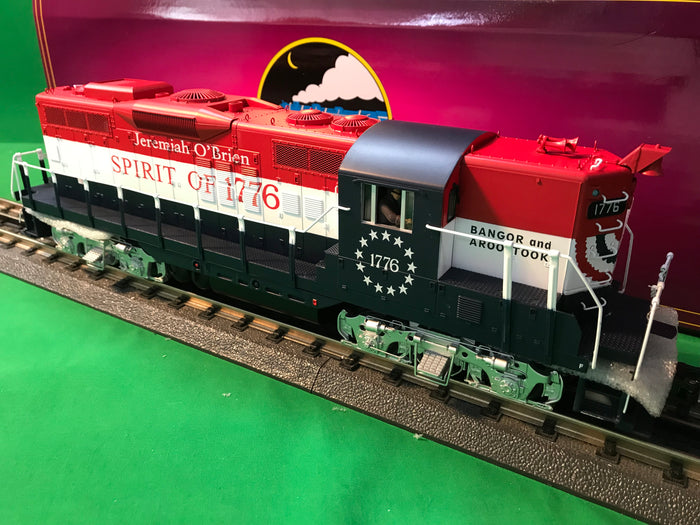 "MTH 20-21100-1 - GP-9 Diesel Engine ""Bangor & Aroostook""  #1776 Jeremiah O'Brien w/ PS3"