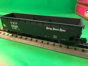 "Lionel 3-18140 - LionScale - AAR 3-Bay Hopper ""Nickel Plate Road"" (6-Car)"