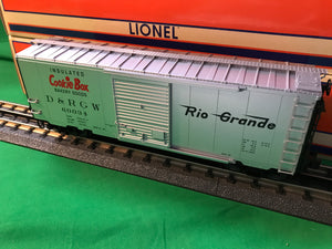 "Lionel 1926650 - FreightSounds Boxcar ""Rio Grande - Cookie Box"" #60034"