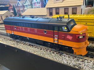 "MTH 20-21384-1 - F-7 A Unit Diesel Engine ""Milwaukee Road"" w/ PS3 #84A (Hi-Rail Wheels) - Custom Run for MrMuffin'sTrains"