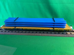 "MTH 20-92235 - 60' Flat Car ""TTX"" w/ Pipe Load Set (6-Car)"