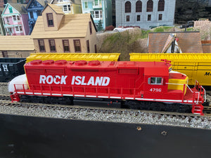 "MTH 20-21319-1 - SD40-2 Diesel Engine ""Rock Island"" #4796 w/ PS3"