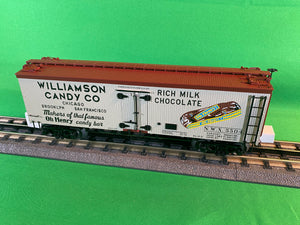 "MTH 20-94445 - 36' Woodsided Reefer Car ""Williamson Candy"""