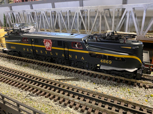 "MTH 20-5731-1 - GG-1 Electric Engine ""Pennsylvania"" #4869 Brunswick Green Solid Stripe w/ PS3"