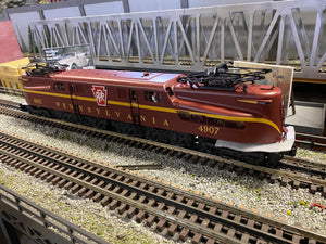 "MTH 20-5730-1 - GG-1 Electric Engine ""Pennsylvania"" #4907 Tuscan Solid Stripe w/ PS3"