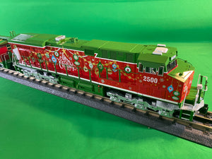 "MTH 30-20757-1 - ES44AC Imperial Diesel & Caboose Set ""Christmas"" w/ PS3"