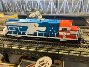 "MTH 20-21305-1 - GP38-2 Diesel Engine ""Grand Trunk"" w/ PS3 #1776 (Hi-Rail Wheels)"