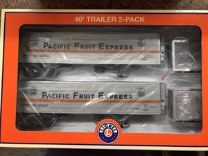 "Lionel 6-83582 - 40' Trailer ""Pacific Fruit Express"" (2-Pack)"