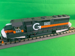 "MTH 20-21466-1 - GP-40 Diesel Engine ""Boston & Maine"" w/ PS3 #337 (Hi-Rail Wheels)"