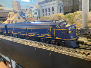 "MTH 20-20400-1 - E-8 ABA Diesel Engine Set ""Norfolk & Western"" w/ PS3 - Second Hand"