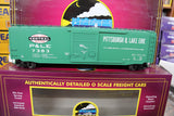 "MTH 20-90724 - 50' Ps-1 Box Car ""Pittsburgh & Lake Erie"" w/ Youngstown Door (6-Car)"