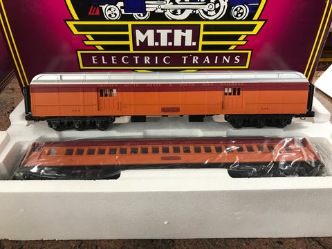 "MTH 20-44009 - 70' Madison Baggage/Coach Passenger Set ""South Shore Line"" (2-Car)"