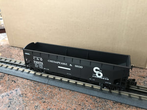 "Lionel 3-16080 - LionScale - 3-Bay Offset Hopper ""Chesapeake & Ohio"" (6-Car) Set #1"