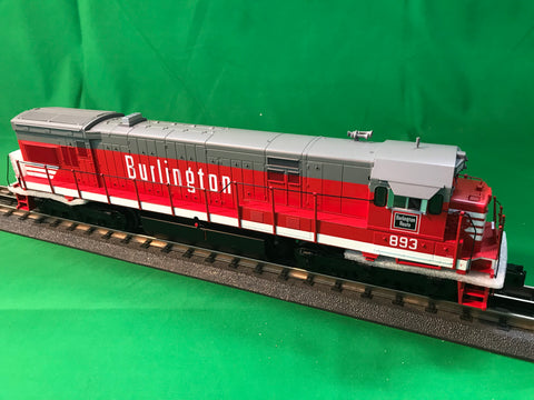 "MTH 20-20934-1 - GE U30C Diesel Engine ""Burlington"" w/ PS3 (Hi-Rail Wheels) #893"
