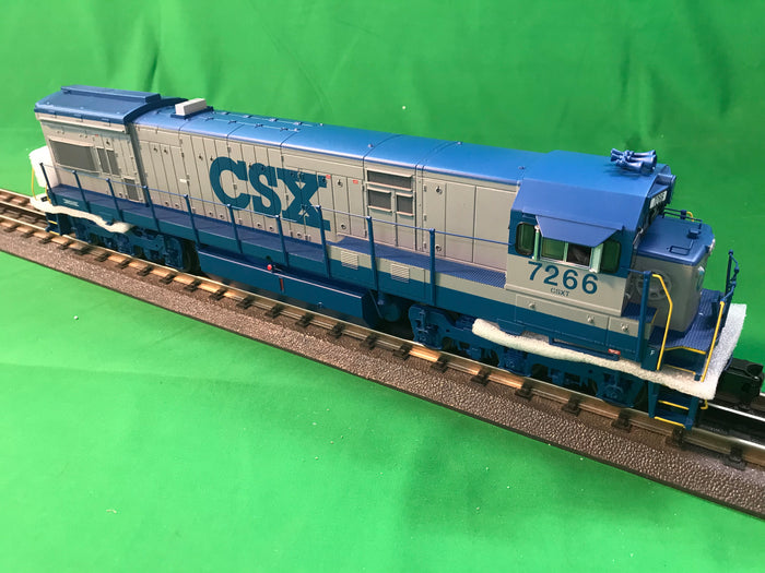 "MTH 20-20932-1 - GE U30C Diesel Engine ""CSX"" w/ PS3 (Hi-Rail Wheels) #7266"