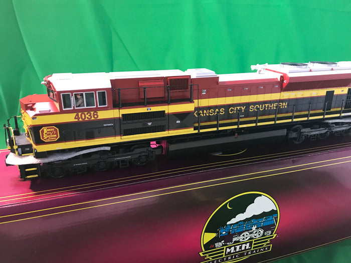 "MTH 20-20959-1 - SD70ACe Diesel Engine ""Kansas City Southern"" #4036 w/ PS3 (Hi-Rail Wheels)"