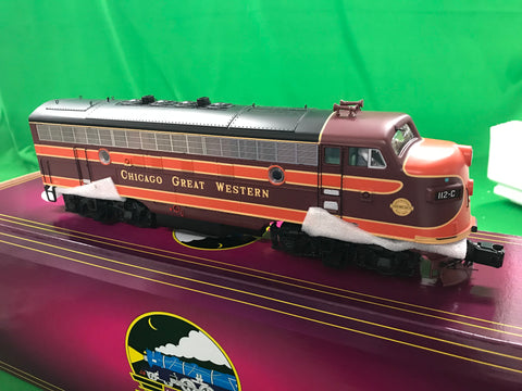"MTH 20-20937-4 - F-3 A Unit Non-Powered Diesel Engine ""Chicago & Great Western"" #106-C (Hi-Rail Wheels)"