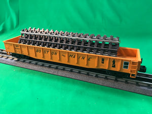 "MTH 20-95285 - Gondola Car ""Boston & Maine"" w/ ScaleTrax Straights"