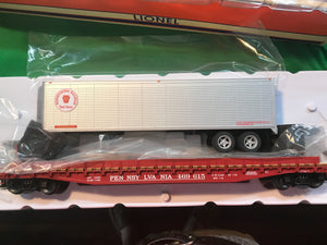"Lionel 6-84873 - PS-4 50' Flat Car ""Pennsylvania"" w/ 40' Trailer #469675"