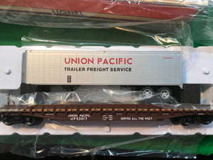 "Lionel 6-84877 - PS-4 50' Flat Car ""Union Pacific"" w/ 40' Trailer #53022"