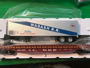 "Lionel 6-84879 - PS-4 50' Flat Car ""Wabash"" w/ 40' Trailer #25549"