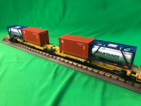 "MTH 20-95297 - Spine Car Set ""TTX"" w/ (1) Tank Container (1) 20' Container (2-Car)"