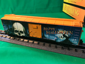 "MTH 30-74935 - Box Car ""Halloween - Skull"" w/ Glowing LEDs"