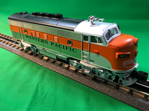"MTH 20-21030-4 - F-3 A Unit Non-Powered Diesel Engine ""Western Pacific"" #801-A (Hi-Rail Wheels)"