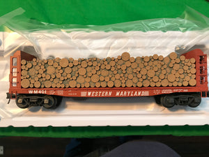 "Atlas O 3003405 - Pulpwood Flat Car ""Western Maryland"""