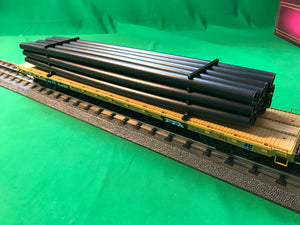"MTH 20-92172 - 60' Flat Car ""TTX"" w/ Pipe Load Set (6-Car)"