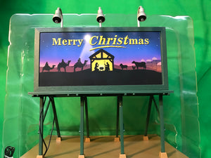 "MTH 30-90585 - Lighted Billboard ""Christmas"""