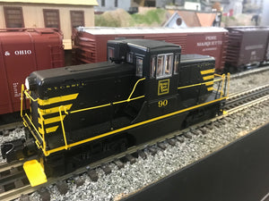"MTH 20-20968-1 - G.E. 44 Ton Phase 3 Diesel Engine ""Nickel Plate Road"" #90 w/ PS3 (Hi-Rail Wheels)"