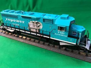"MTH 20-21024-1 - GP-40 Diesel Engine ""Electro Motive Division"" #7101 w/ PS3 (Hi-Rail Wheels)"