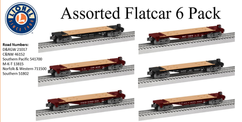Lionel 6-84455 - Assorted Flatcar (6-Pack)