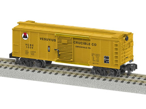 "Lionel 2019050 - A/F Freightsounds Boxcar ""Vesuvius Crucible"""