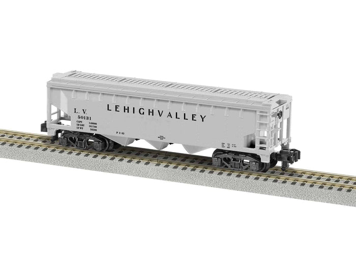 Lionel L-1919192 A/F Lehigh Valley 3 Bay Covered Hopper #50131