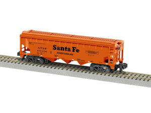 Lionel L-1919212 A/F Santa Fe 3 Bay Covered Hopper #101456