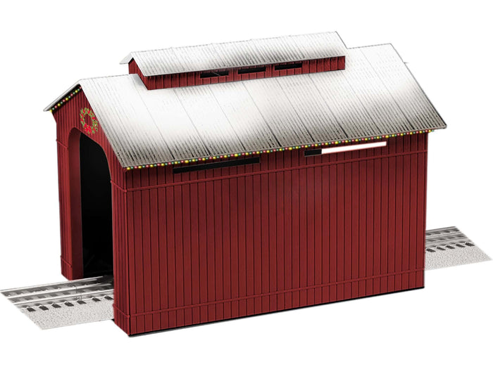 Lionel L-1929090 - Lighted Christmas Half-Covered Bridge