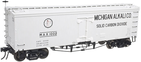 "Atlas O 3001418 - 36' Wood Refrigerator Car ""Michigan Alkali Company"""