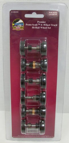 MTH 20-89009 - Proto-Scale 3-2T 6-Wheel Truck Hi-Rail Wheel Set Kit