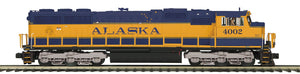 "MTH 20-21195-1 - SD70Mac Diesel Engine ""Alaska"" #4002 Spirit of Seward w/ PS3 (Hi-Rail Wheels)"
