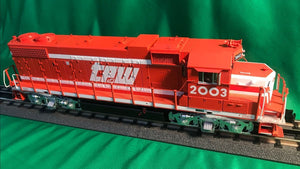 "MTH 20-21223-1 - GP38-2 Diesel Engine ""Toledo, Peoria & Western"" #2001 w/ PS3 (Hi-Rail Wheels)"