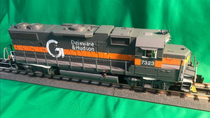 "MTH 20-21230-1 - GP38-2 Diesel Engine ""Delaware & Hudson"" #7324 w/ PS3 (Hi-Rail Wheels)"