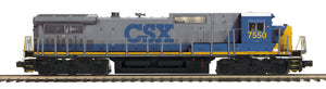 "MTH 20-21282-1 - Dash-8 Narrow Nose Diesel Engine ""CSX"" w/ PS3 (Hi-Rail Wheels)"