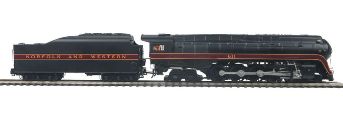 MTH 20-3774-1 Norfolk & Western 4-8-4 J #611 Steam Locomotive w/Proto-Sound 3.0 (Hi-Rail Wheels)