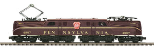 "MTH 20-5730-1 - GG-1 Electric Engine ""Pennsylvania"" Tuscan Solid Stripe w/ PS3"