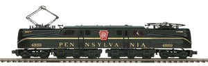 "MTH 20-5731-1 - GG-1 Electric Engine ""Pennsylvania"" Brunswick Green Solid Stripe w/ PS3"