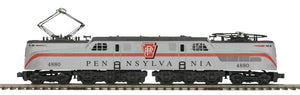 "MTH 20-5732-1 - GG-1 Electric Engine ""Pennsylvania"" Silver Solid Stripe w/ PS3"